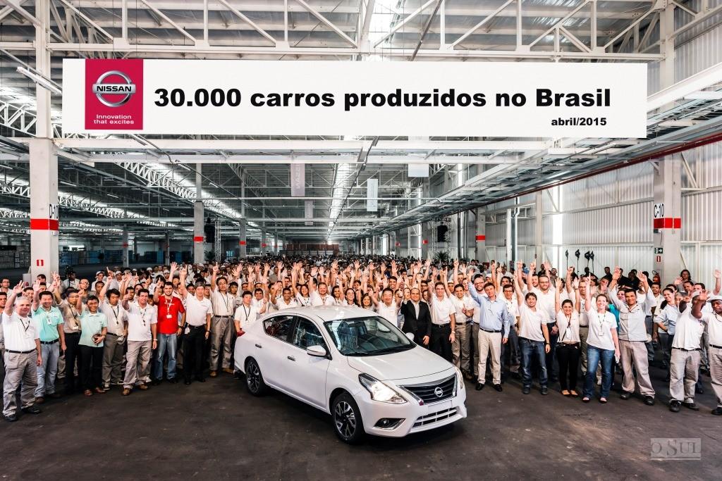 d9b1d11c9 Fábrica brasileira da Nissan produz 30 mil veículos no primeiro ano.  Complexo industrial em Resende ...