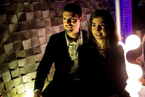 Ana Laura e Paulo Hoffmeister no atraente recanto que tem assinatura dele. Foto: Jackson Ciceri/ O Sul