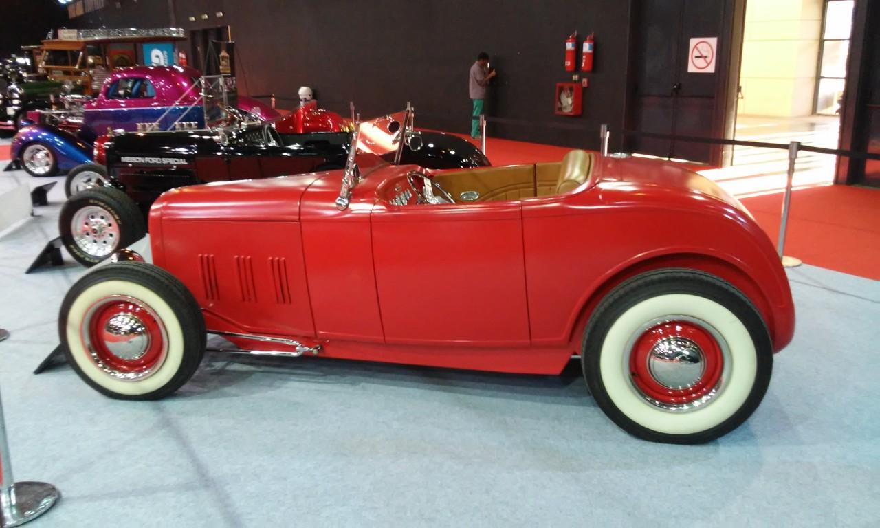 Carros antigos no Salão do Automóvel de Buenos Aires 2015