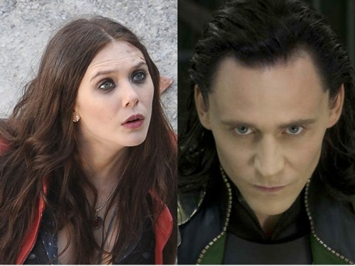 Os atores Elizabeth Olsen e Tom Hiddleston, que interpretam Loki e Feiticeira Escarlate nos filmes da Marvel. (foto: reprodução)