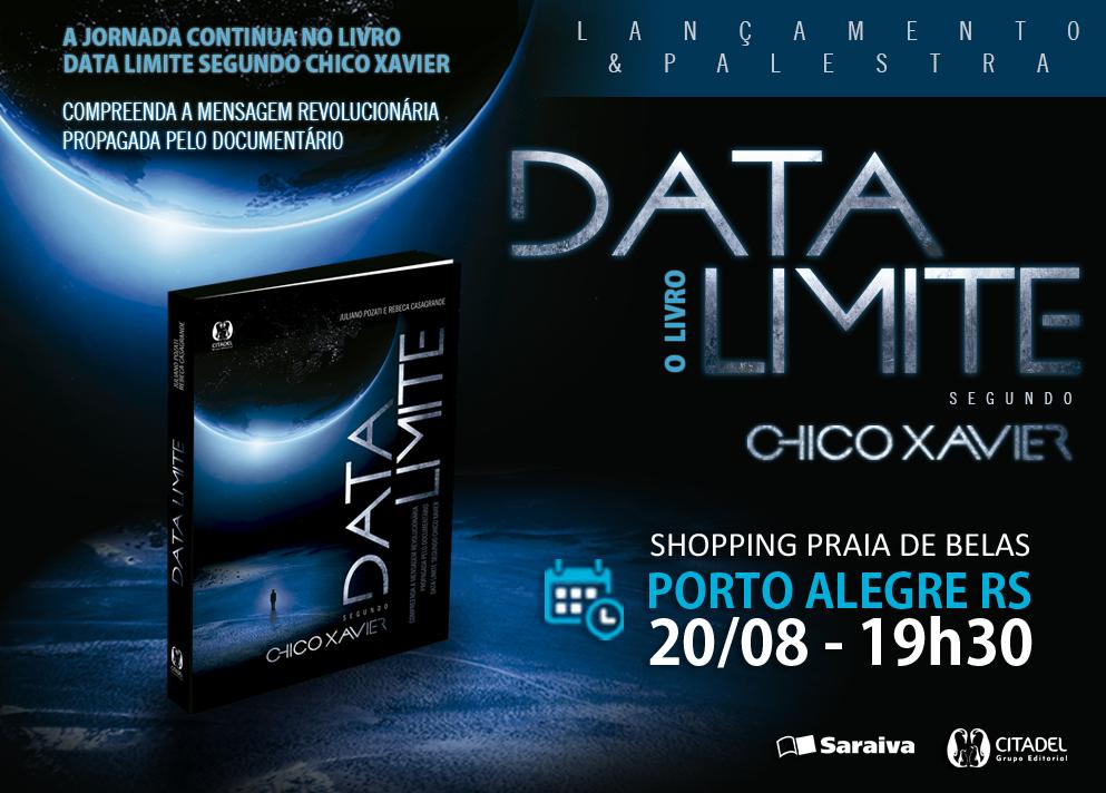 Nova obra de Chico Xavier chega às lvrarias, Data LImite
