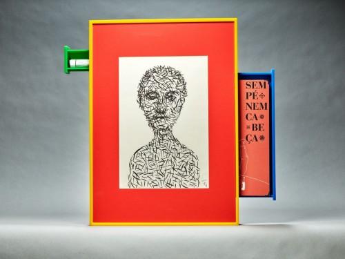 """Trabalhos inéditos, como este, assinados por Roberto Magalhães fazem parte do livro-objeto """"Sem pé nem cabeça"""". (Foto: reprodução)"""