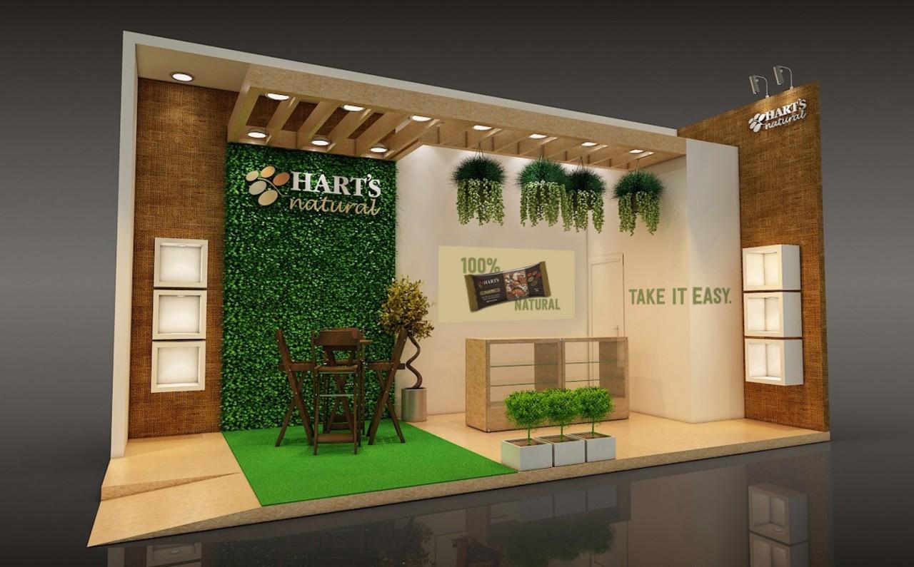Hart s natural estreia na expoagas jornal o sul for Design de stand