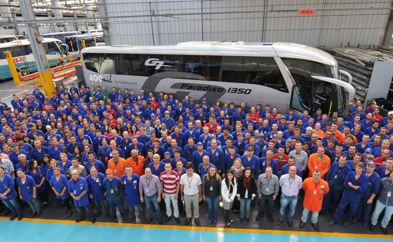 Marcopolo 400 mil ônibus e 66 anos