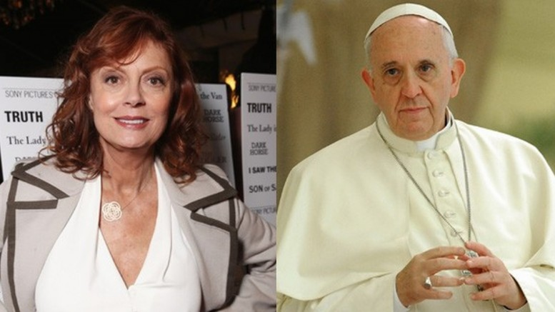 Susan e o papa Francisco. (foto: reprodução)