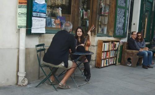 A boemia intelectual, frequentadora assídua da livraria.(Foto: divulgação)