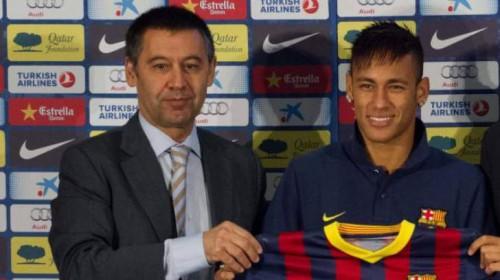 Josep Maria Bartomeu, atual presidente do Barcelona, também é acusado de fraudar contratos firmados no acordo entre Santos e o clube catalão.