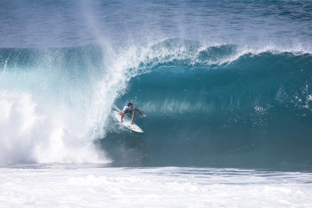 Torneio Billabong Pipeline Masters aconteceu na praia de Pipeline, na ilha de Oahu. (Foto: Sebastian Rojas/FramePhoto/Folhapress)