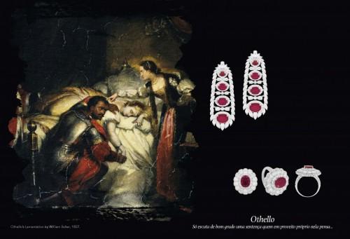 """Capítulo impressionante com joias inspiradas em """"Otelo"""". (Foto: Reprodução)"""