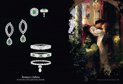 """Os devaneios amorosos de """"Romeu e Julieta"""" sugeriram joias de desenho romântico. (Foto: Reprodução)"""