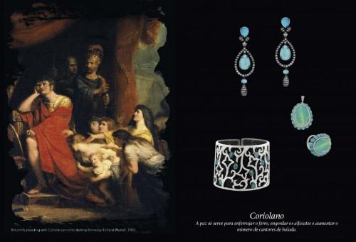 """O forte enredo da peça """"Coriolano"""" proporcionou joias de estilo marcante. (Foto: Reprodução)"""