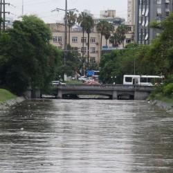 Nível do arroio Dilúvio ficou alto Foto: Lucas Uebel/O Sul)