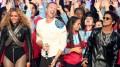 No intervalo do Super Bowl, Beyoncé, Coldplay e Bruno Mars se apresentaram.   (foto: reprodução)