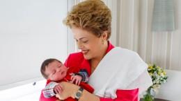 Presidenta costuma viajar à capital gaúcha para encontrar sua família, cujo mais novo membro é o neto Guilherme. (Foto: Roberto Stuckert Filho/PR)