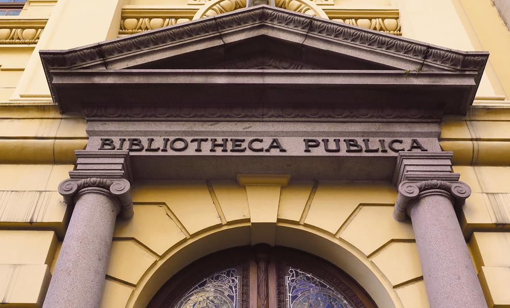 Prédio da Biblioteca Pública do Estado do Rio Grande do Sul integra a categoria Eclético com estrutura Neoclássica. (foto: Fernando Bueno/divulgação)