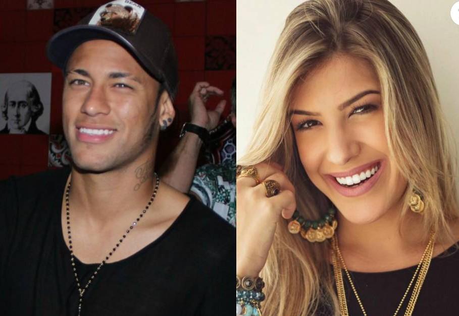 Fotomontagem de Neymar e Lorena Improta