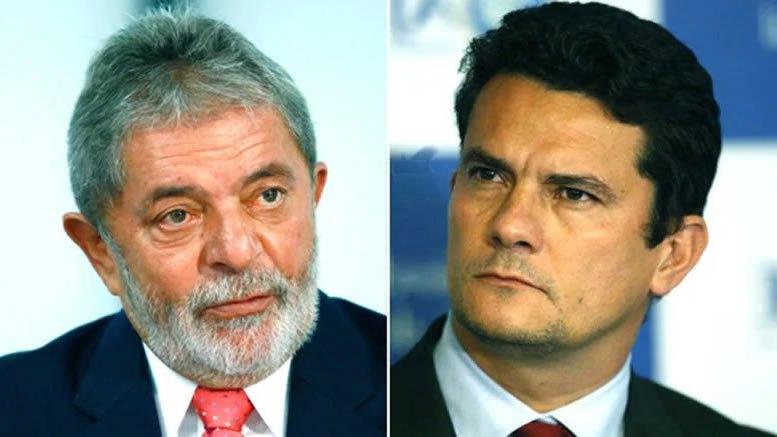Fotomontagem de Lula e Sérgio Moro