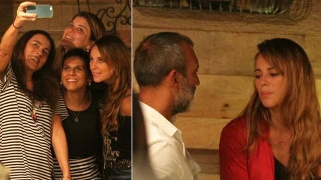 Fotomontagem de Paolla Oliveira com amigas e com o namorado, Papinha