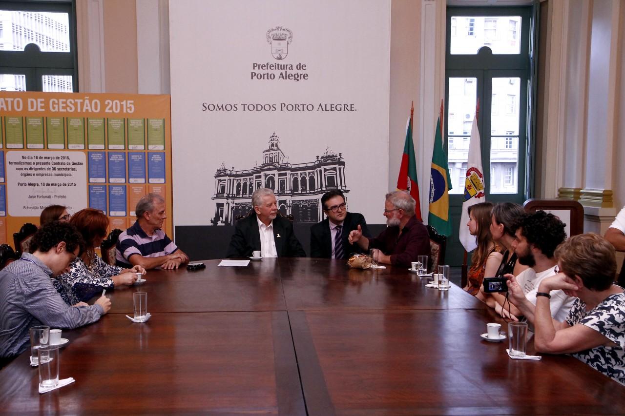 Prefeito José Fortunati recebe visita de comitiva de Sonderborg, cidade da Dinamarca