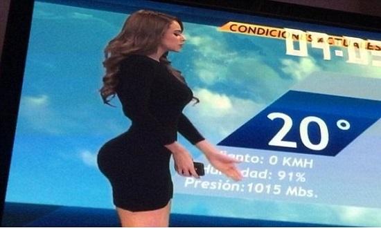 Yanet ficou conhecida por fazer aparições na TV com vestidos curtos. (Crédito: Reprodução)