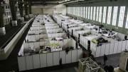 Hoje,  1.586 refugiados vivem no antigo aeroporto de Tempelhof, em quartos improvisados com paredes de biombos, sem cobertura.  (Crédito: Reprodução)