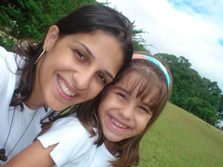 Ana Carolina Oliveira e a filha Isabella Nardoni