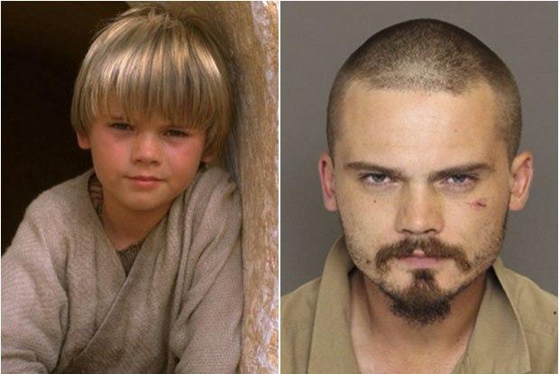 Fotomontagem de Jake Lloyd, com imagens da época em que interpretou o jedi Anakin Skywalker e da fase atual