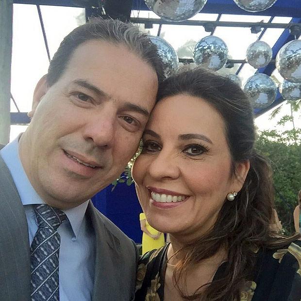 Deputada Raquel Muniz com o marido, Ruy Muniz