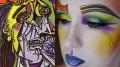 """Maquiadora se inspirou na obra de Picasso """"The Weeping Woman"""". (Crédito: Reprodução)"""