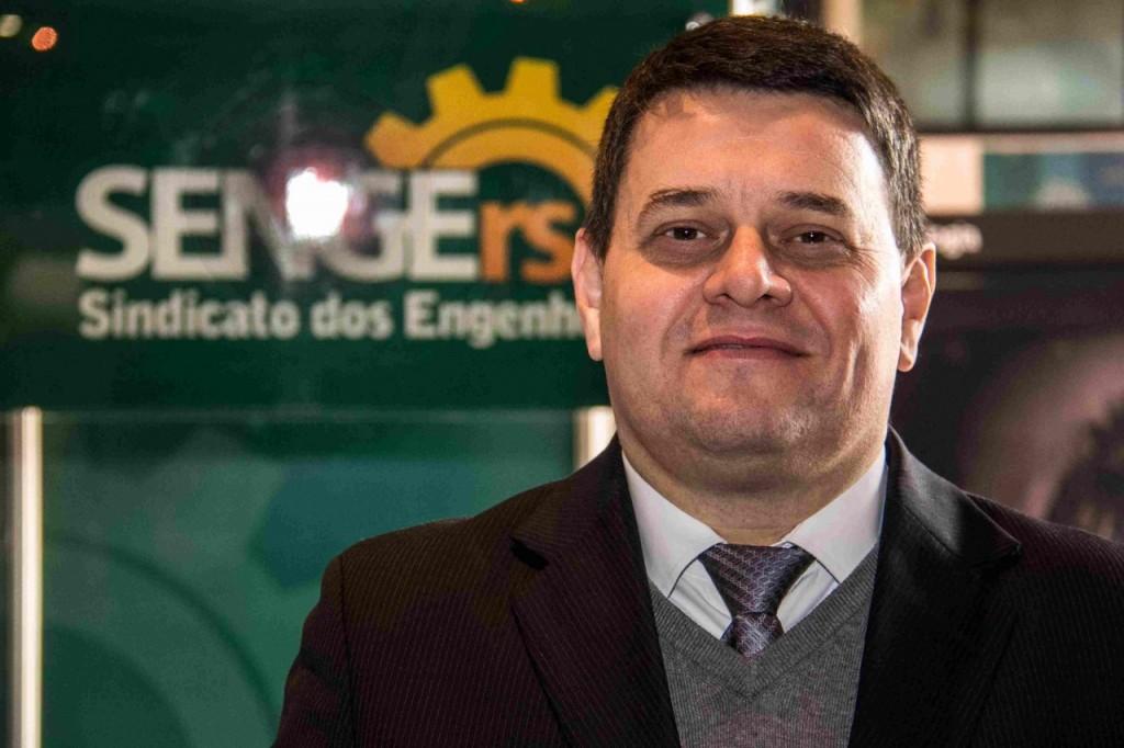 Alexandre Wollmann é o presidente do SENGE-RS. Foto: Jackson Ciceri/O SUL