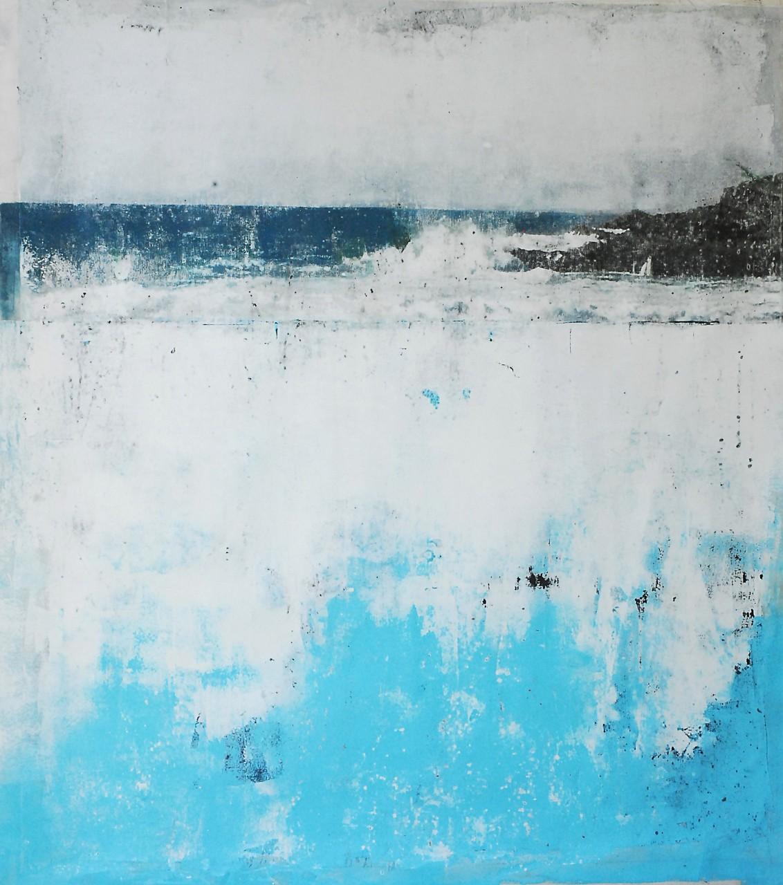 Assim como esta pintura, as obras do grupo Em Branco buscam sensibilizar o público para as questões relativas aos recursos hídricos e ao meio ambiente. (Foto: Divulgação)