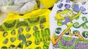 Operação policial apreendeu produtos falsos da Olimpíada em Copacabana (Foto: Divulgação/ Polícia Civil)