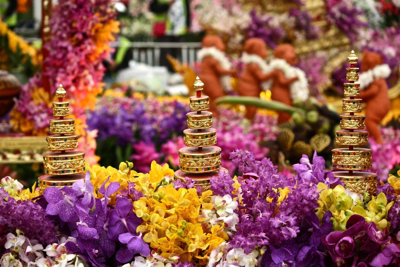 A bela composição de cores dos artísticos arranjos do Chelsea Flower Show. (Foto: Pedro Antonio Heinrich/especial)