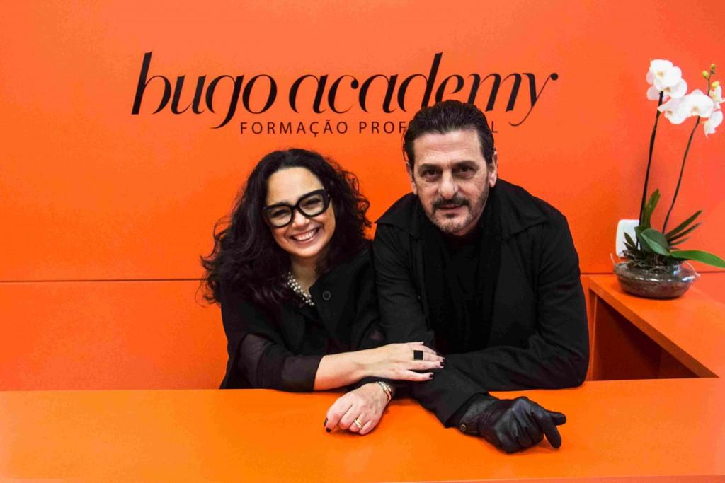 Gabriele e Hugo Moser se preparam para o workshop da Hugo Academy. (Foto: Jackson Ciceri/O Sul)
