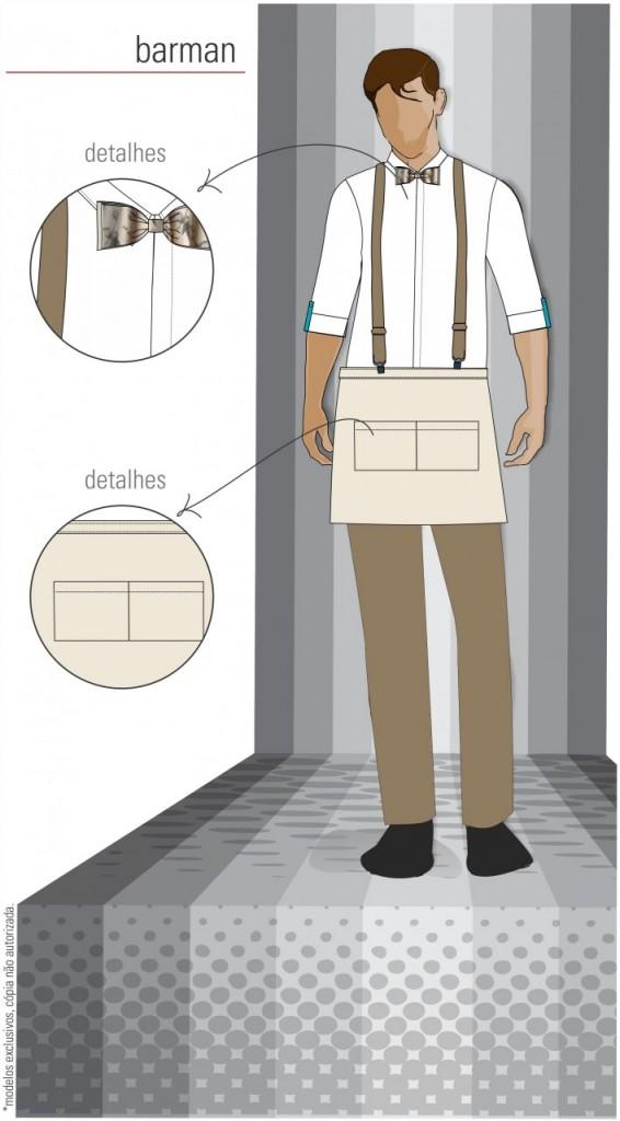 Design barman masculino. (Foto: Divulgação)
