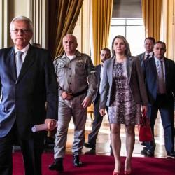 Porto legre 2016 - Vice-Governador José Paulo Cairoli , em coletiva sobre a precariedade da segurança pública no Estado .No Palácio Piratini - FOTO - Jackson Ciceri