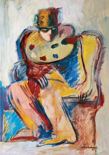 """Pintura de Clara Pechansky que ilustra o convite para a mostra """"Rememórias"""". (Foto: Divulgação)"""