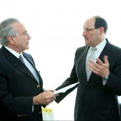 Sartori (D) e Michel Temer (E) (Foto: Banco de Dados)