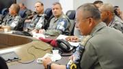 A reunião foi coordenada pelo comandante do CPC, coronel Mário Ikeda (foto: Thanise Melo/Divulgação)