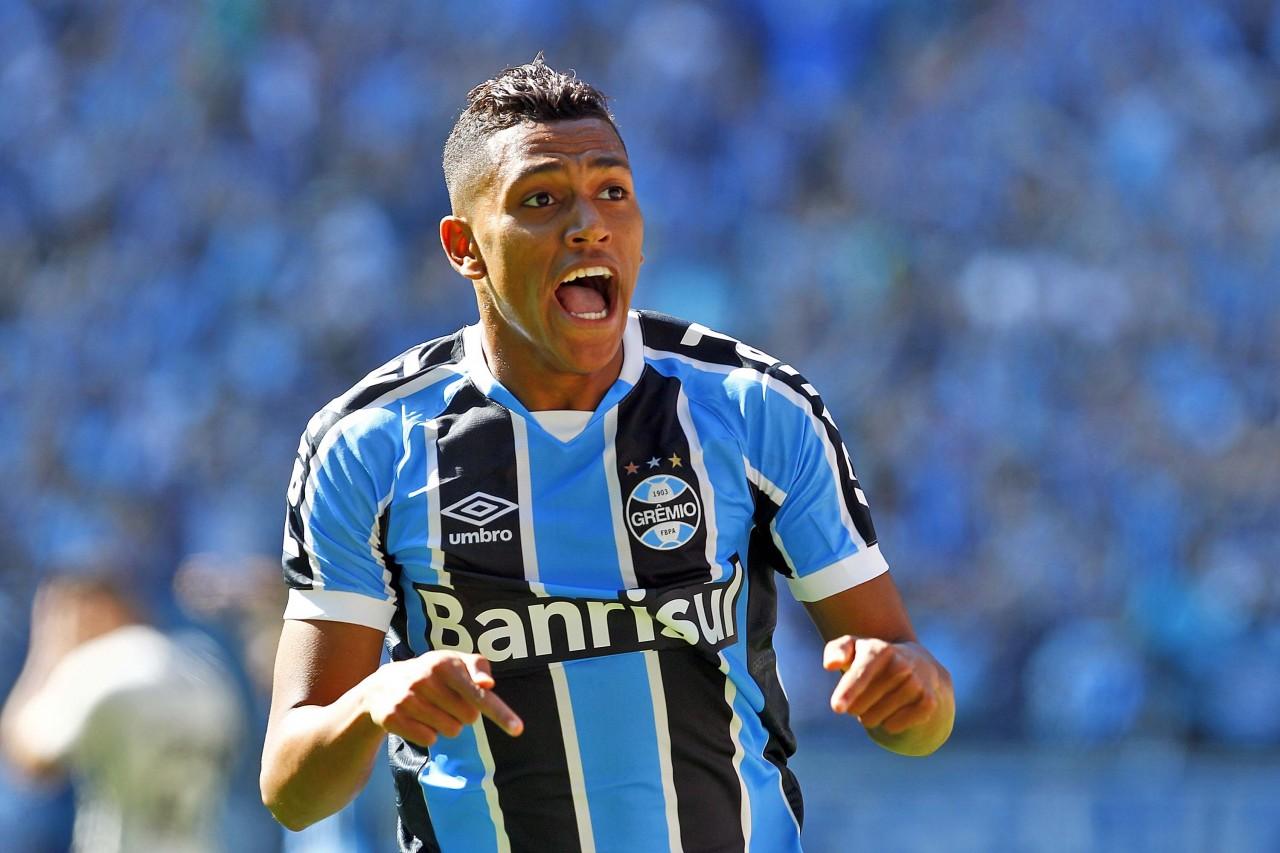 Pedro Rocha marcou o primeiro gol gremista neste domingo. (Foto: Rodrigo Rodrigues/Grêmio)