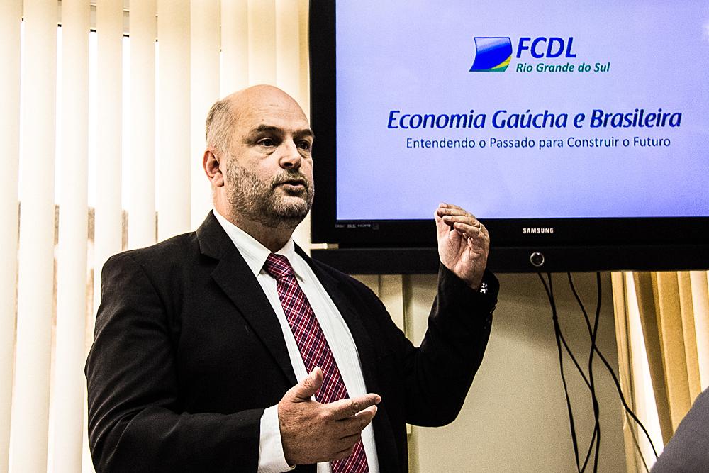 Presidente da FCDL, Vitor Koch. FOTOS: Jackson Ciceri/O SUL
