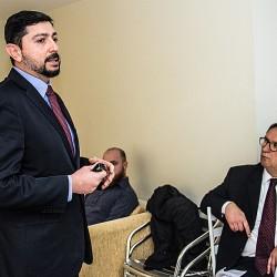 O Superintendente da FCDL, Leonardo Neira. Fotos: Jackson Ciceri/ O SUL