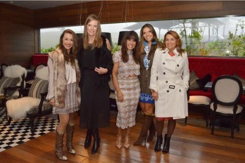 Manoela Pinheiro Machado, Betina Albuquerque, Lais Helena Tarasconi, Marja Zaluski e Beatriz Zamprogna Zaluski. (Foto: Liane Neves/divulgação)