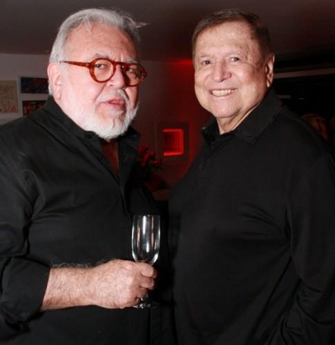 Ricardo Amaral e José Bonifácio de Oliveira Sobrinho, ou Boni, seu parceiro na escolha de bons vinhos e restaurantes. (Foto: Reprodução)