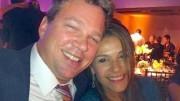 Brasileira Fabíola Bittar de Kroon com o marido. (Foto: Reprodução/Facebook)