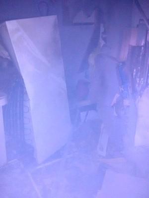 Cofre foi danificado (Foto: BM/Divulgação)
