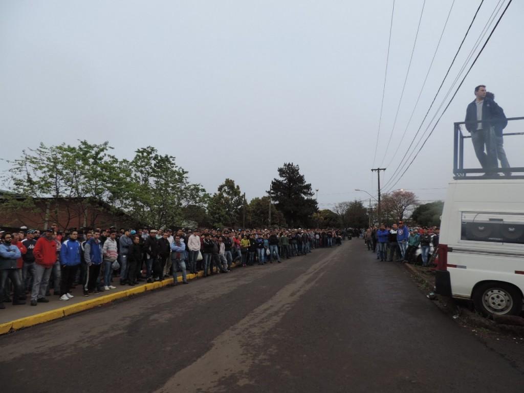 Trabalhadores foram dispensados após três dias de licença. (Foto: Sindicato dos Metalúrgicos de Erechim/Divulgação)