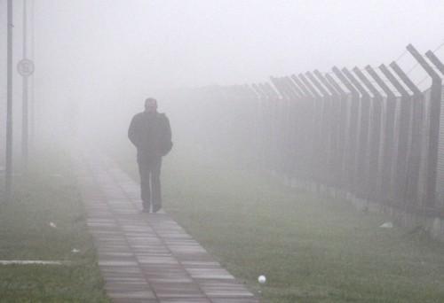 Forte neblina atingiu a Capital (Foto: Jackson Ciceri/O Sul)