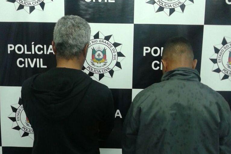 Irmãos presos em Pelotas. (Foto: Polícia Civil/Divulgação)