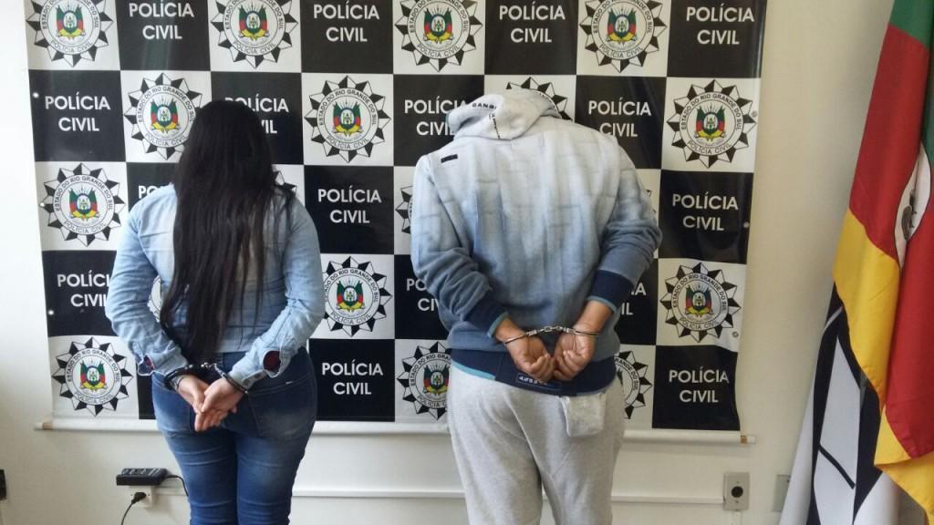 979115717f Dois suspeitos foram presos na cidade gaúcha de Alvorada. (Foto   PC Divulgação